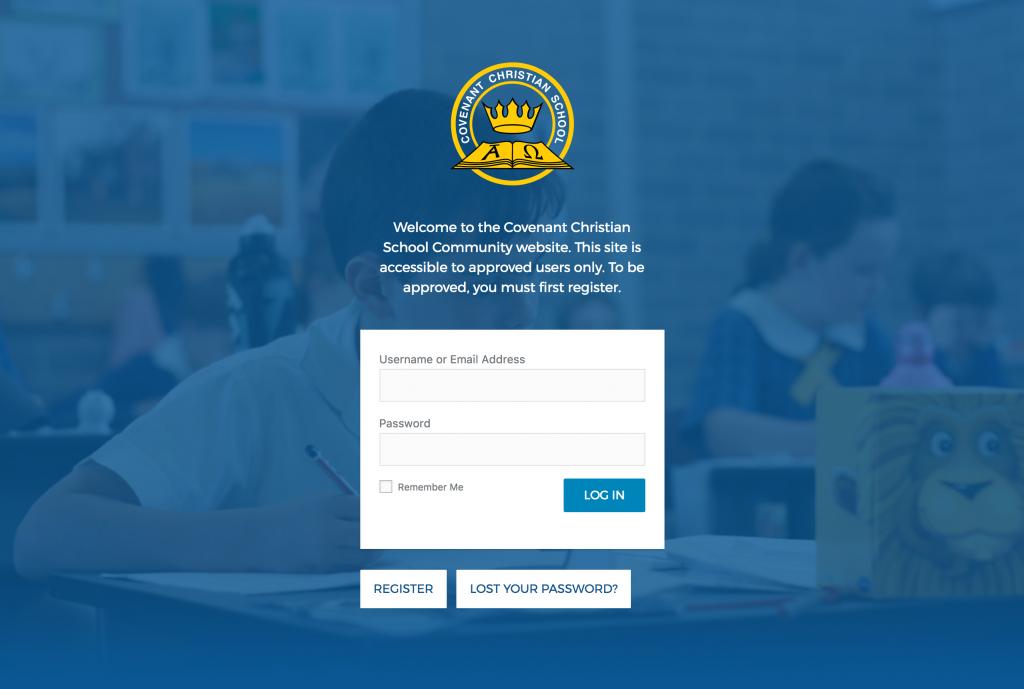 Covenant Christian School Portal Login - MV Web Design & Development